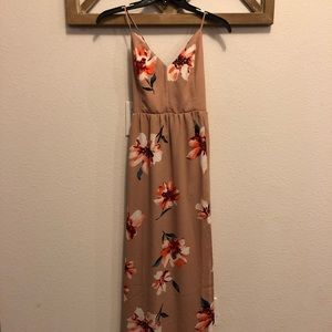 Forever 21 floral maxi dress with strappy back